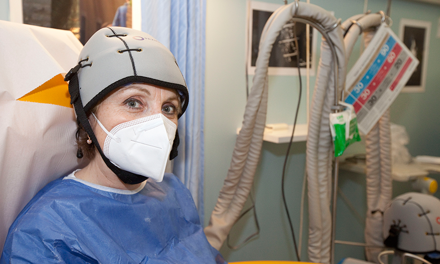 casco anti caduta capelli chemio terapia